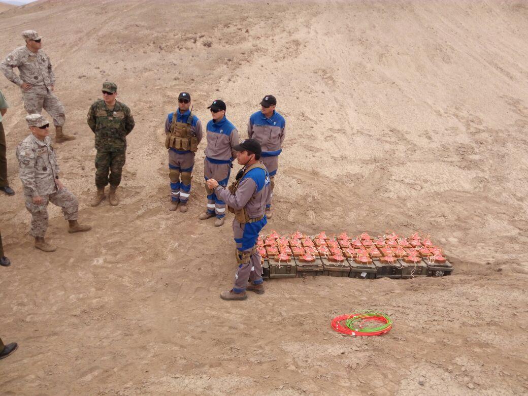 Destrucción Explosivos 2017 - Pampa de Chaca - Arica