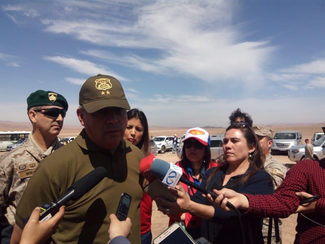 Jefe de la Zona de Seguridad Privada, Armas y Explosivos General de Carabineros Diego Olate