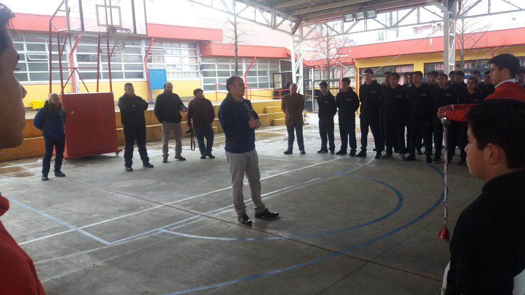 """VISITA INSPECTIVA AL LICEO BICENTENARIO DE EXCELENCIA POLIVALENTE """"SAN NICOLÁS"""""""
