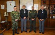 REPRESENTANTES DEL EJÉRCITO Y POLICÍA COLOMBIANA VISITAN DGMN